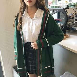 韩版气质显瘦开衫毛衣外套