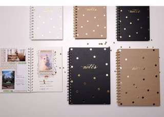 Lovedoki Khaki and Gold Polka Dots Blank Notebook