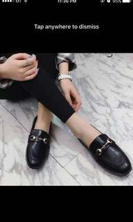 Black Work Shiny Loafers