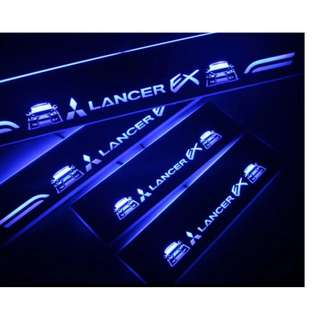Mitsubishi Lancer Animated LED Light Door Scuff Plates
