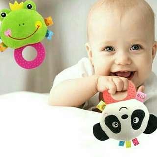 Mainan Bayi Boneka Rattle And Teether