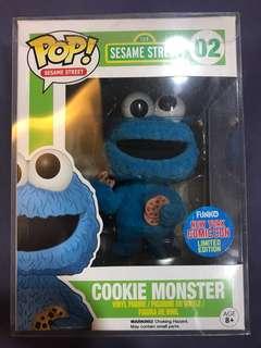 Funko pop sesame street flocked cookie monster