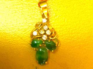 Old grade A jade & real diamond pendant of 40 years old
