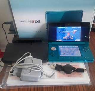 B9S 16GB Modded Nintendo 3DS Aqua Blue