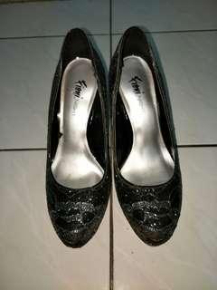 Heels Black Silver Payless Fioni Night
