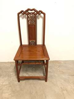 Delicate ! Not for heavy weight person !  very old Rare Antique Chair good quality wood with intricate  carving pattern CANNOT ROCK THIS CHAIR!