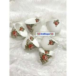Glass gelas mug cawa saudi arab cup unik mewah cangkir perlengkapan dapur shabbychic home decoration dekorasi rumah pesta party murah cantik