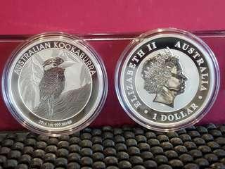 Sliver Kookaburra 1oz coin 2014