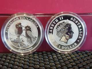 2013 sliver 1oz Kookaburra