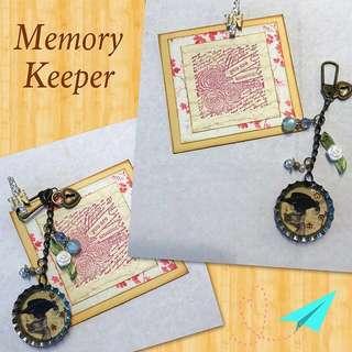 Handmade Key Chain / Bag Charm - Vintage Rose