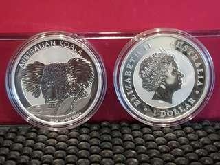 2014 sliver koala 1oz sliver coin