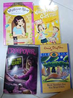 "Enid blyton titles and ""Whatever After"" and ""Creepover"" bundle"