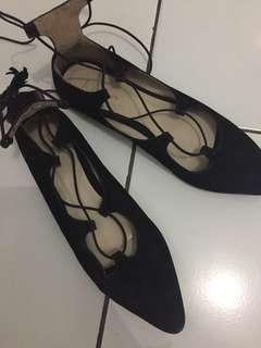 flatshoes hitam ballerina