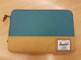 Herschel ipad case 淺藍x杏色 70%新