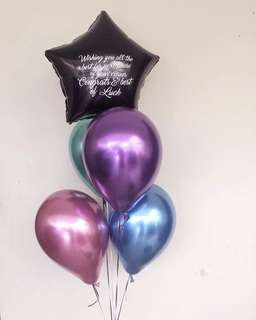 Chrome balloons set