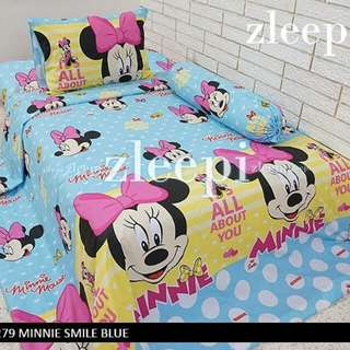 Sprei motif minnie mouse