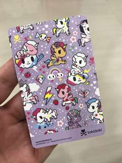 $20 Card Value Tokidoki Unicorno EZ Link Card
