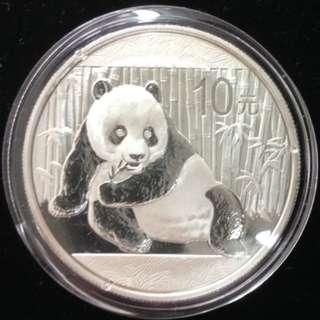 2015 *銀幣熊貓* .999 1oz。2015 * SILVER COIN PANDA * .999 1oz.