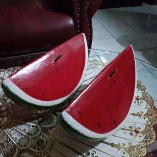 2 pcs celengan motif semangka