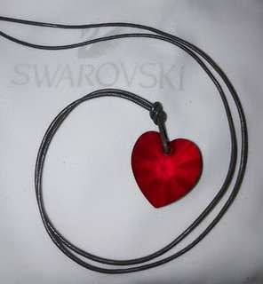 Swarovski ~ Red Heart Crystal Pendant Necklace