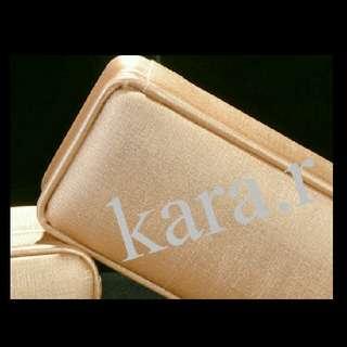 Wedding Gift/Present : For Necklace/Watch/Bracelet/Anklet Case Holder Storage Rectangle Plain Gold Golden