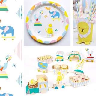 Circus Fun Party Paper Plate - Birthday / baby shower / weddings / Christmas