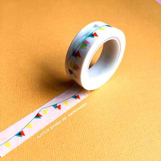 FREE NORMAL MAIL Flag Pennant Banner Washi Tapes #021