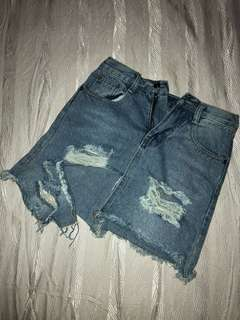 Riped skirt  jeans