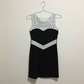 Black Cocktail Party Dress - Baju Pesta Hitam