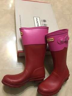 hunter型格紅色雨靴 red boot