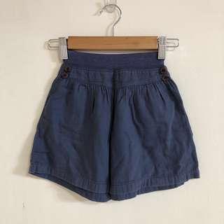 女童 純棉造型寬褲裙2-3y