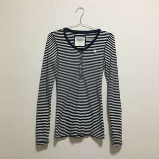 Stripe Long Sleeve Knitted Sweater Top
