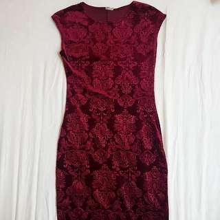 Narinporn Maroon Dress