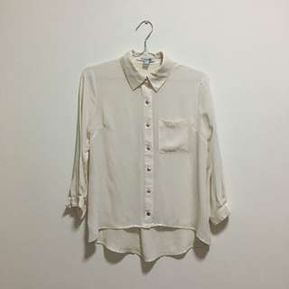 White Shirt Top Forever 21 - Kemeja Putih