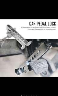 Clutch/brake throttle pedal anti-theft  lock