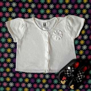 9m Carter's  Cute White Top/Bolero