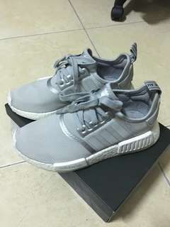 🚚 二手) Adidas  nmd 銀灰 23cm