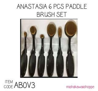 ANASTASIA PADDLE BRUSH 6PCS