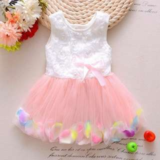 Girl Tutu Dress Pearl Attached Design
