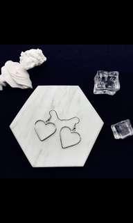 BNIB Heart Shaped Dangle Ear Ring