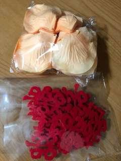 Flower petals (fake) & 喜 deco