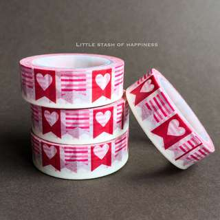 FREE NORMAL MAIL Heart Ag Banner Washi Tape #022