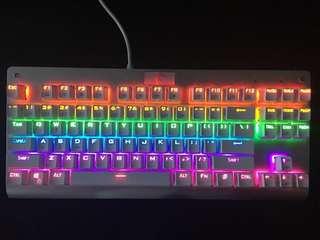 White Mechanical RBG Gaming Keyboard