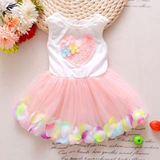 Girl Tutu Dress Heart Design