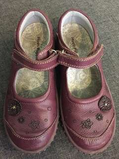🆓📮HUSH PUPPIES LEATHER GIRL SHOES PRUNE PURPLE 12 size