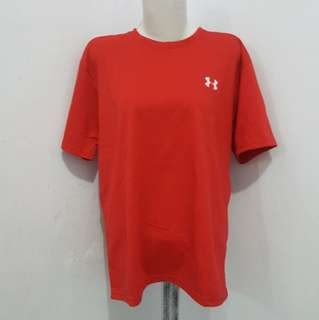 Under armour red top