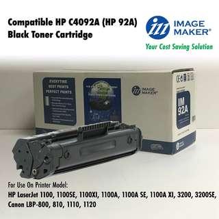 Genuine BNIB Image Maker Compatible HP C4092A (HP 92A) Black Toner Cartridge