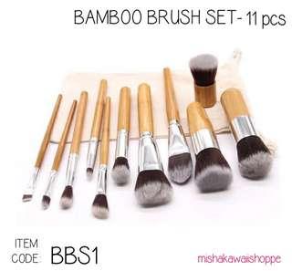 BAMBOO BRUSH SET - 11PCS.