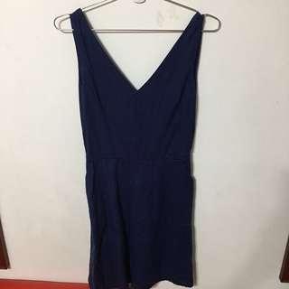 GAP V領無袖洋裝