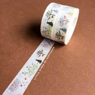 FREE NORMAL MAIL - Flower Garden Cat Washi Tape #025